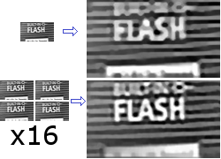 Superresolution example